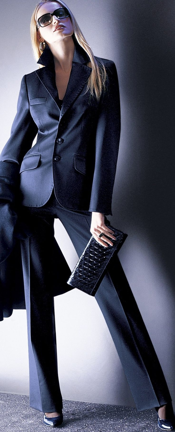 Excellent  Blue Military Jacket Navy Business Women39s 0P Petite Pant Suit 280