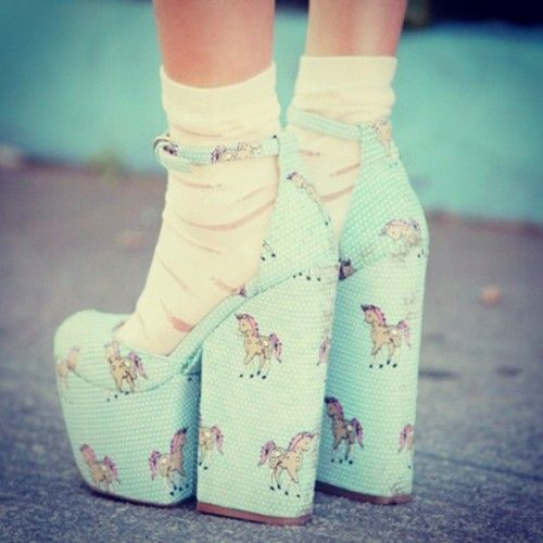 unicorn shoes! These are super weird but I like them