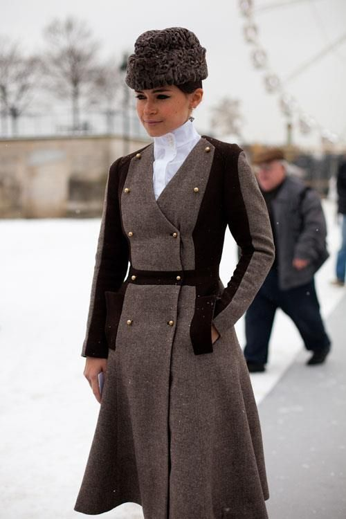 Miroslava Duma at Paris Haute Couture, Spring 2013