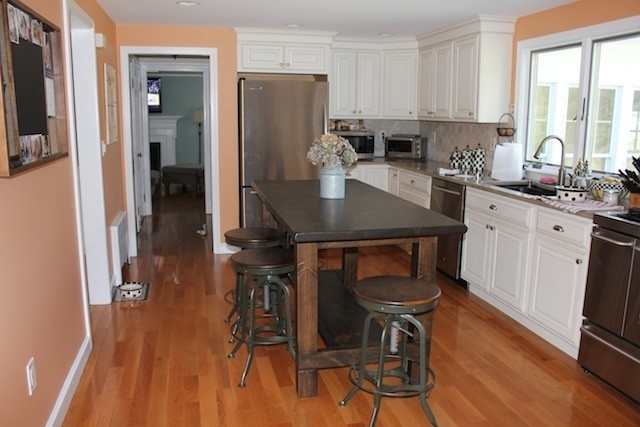 farm table style custom kitchen island for the home