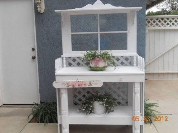 potting table bench cottage chic not shabby by theromanticrose 375