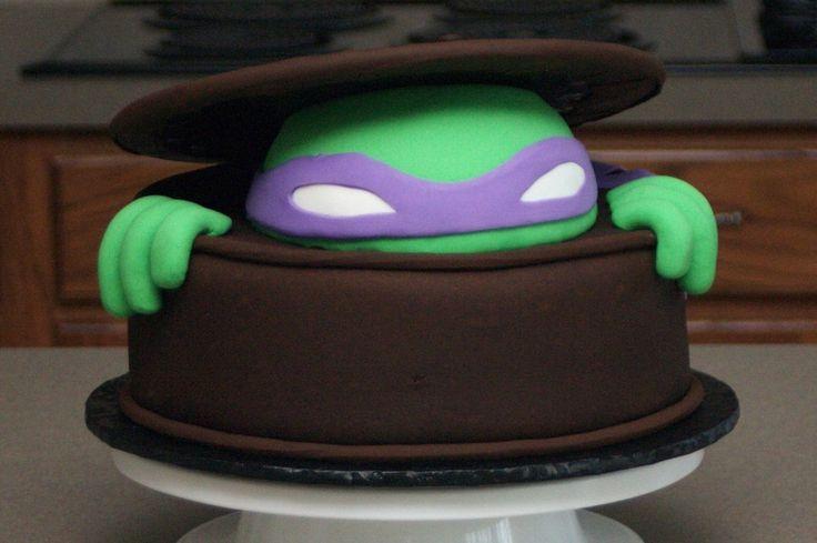 ninja turtle head cakes