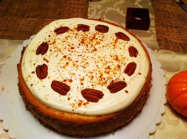 Bourbon pumpkin cheesecake #recipe anyone?