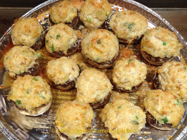 Crab Stuffed Mushrooms | GUAHAN RECIPES | Pinterest