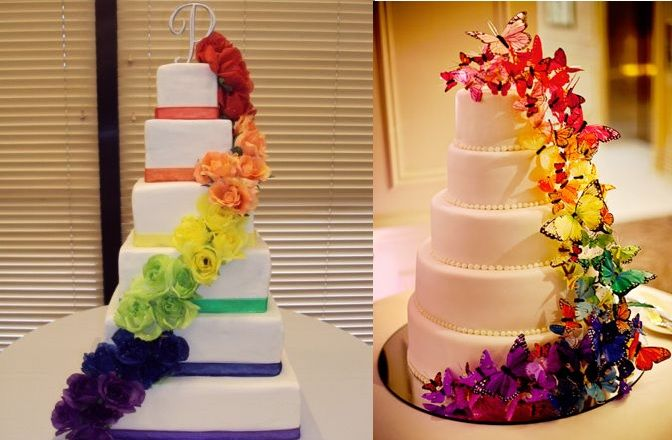 Gay Pride Wedding Cake. Rainbow. Pinterest