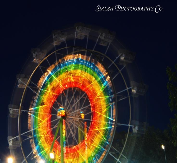 Ferris Wheel @ night  Stanislaus County Fair