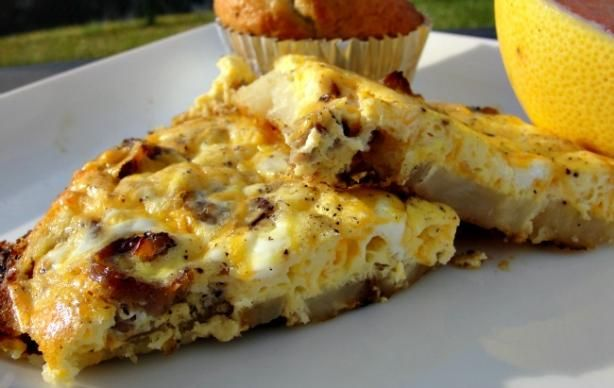 Sausage, Potato and Cheese Omelet | Recipe