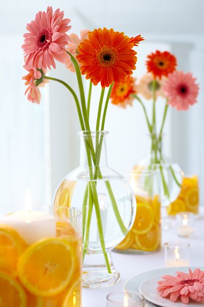 Fresh Floral Wedding Table Centerpieces Floral And Event Design P