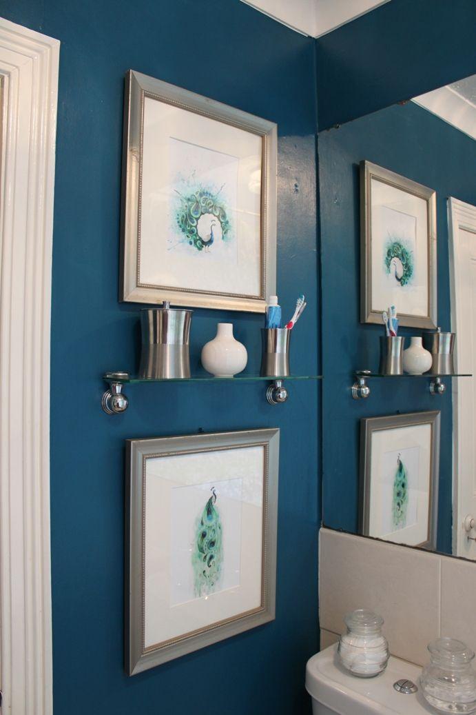Peacock wall color home decor pinterest for Peacock bathroom design