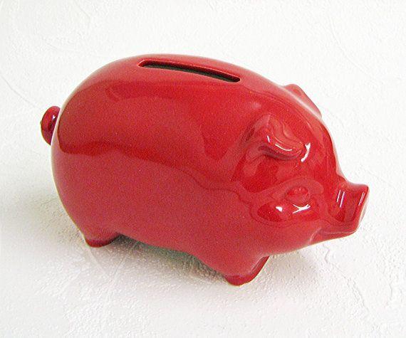Ceramic Piggy Bank Retro Vintage Design 60 39 S Coin Pig Bank