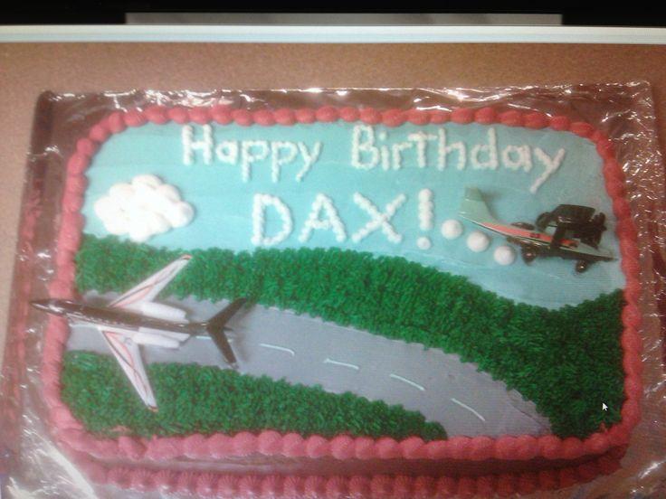 Airplane sheet cake cake decorating pinterest for Airplane cake decoration