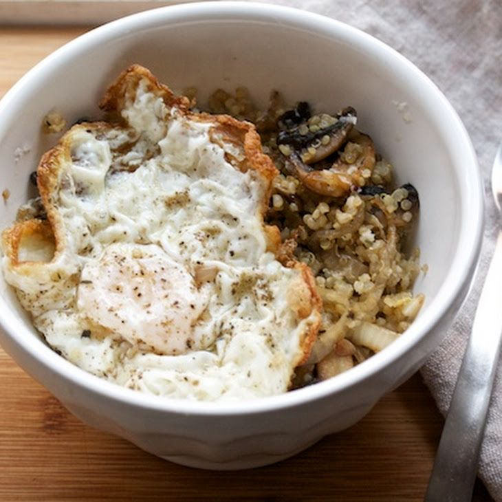 Thyme Mushroom-Quinoa Sauté Recipe | Quinoa | Pinterest