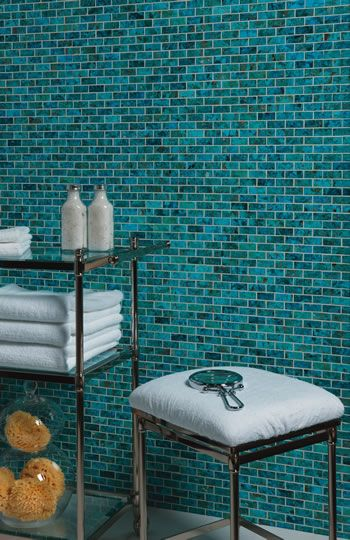 Turquoise tile home decor pinterest - Turquoise bathroom floor tiles ...