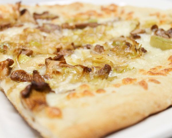 Mushroom-Leek Pizza Recipe — Dishmaps