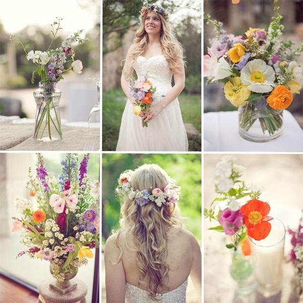Wildflower Wedding Bouquet Dreaming Of Weddings Pinterest
