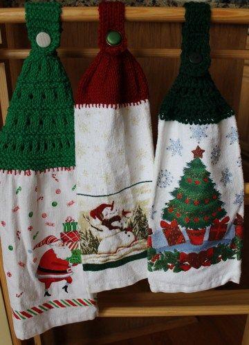 christmas dish towels set of 3 brendascraftstore housewares on