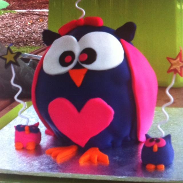 Very cute owl birthday cake  Birthday Cake  Pinterest