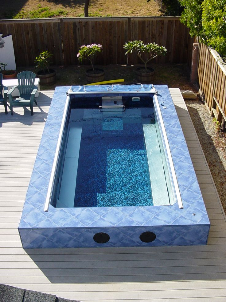 Backyard Swimming Spot : great spot for an Endless Pool is on the backyard deck Crystal