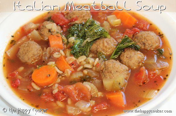 Italian Meatball Soup | Soup's On | Pinterest