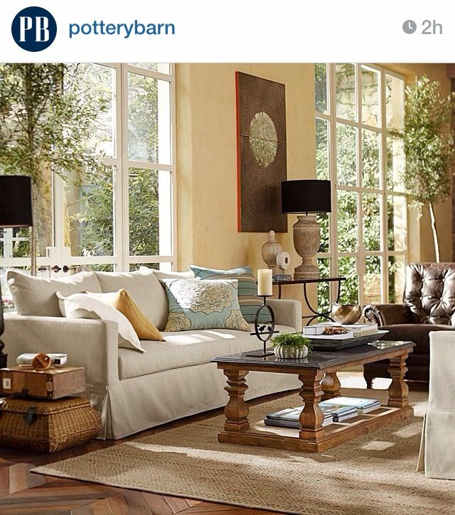 living room pottery barn for the home