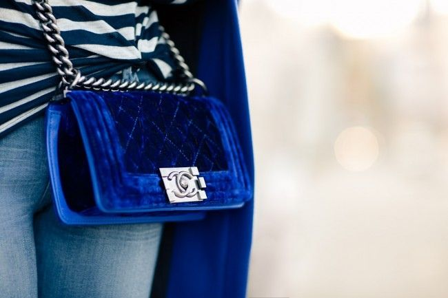 blue. velvet. chanel. three of our favorite things!