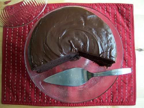 paperseed buttermilk chocolate cake