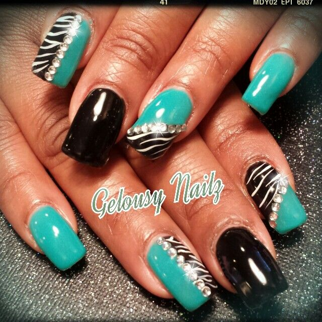 Turquoise And Black Nail Designs Best Nail Designs 2018