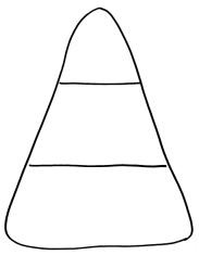Candy Corn Coloring Page | Candy | Pinterest