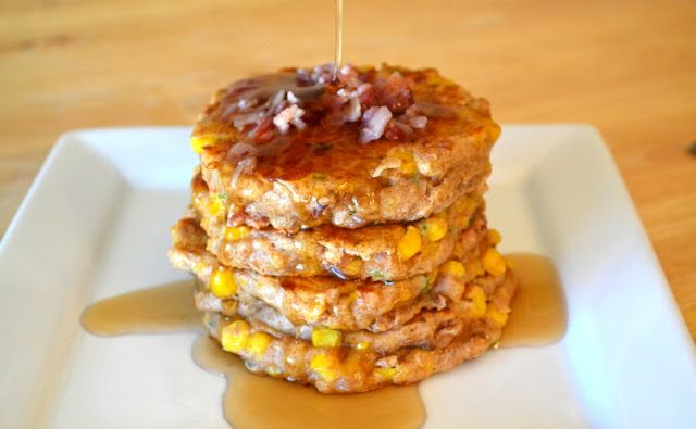 Bacon Jalapeno and Corn Griddle Cakes | food! | Pinterest