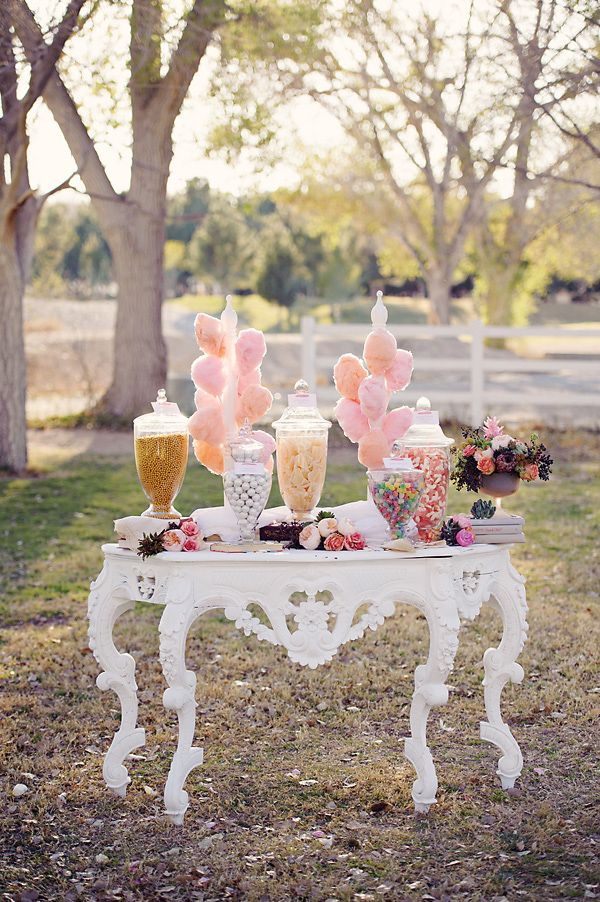 Our vintage candy table / Cotton candy sweet station. All available at B Sweet Candy Boutique