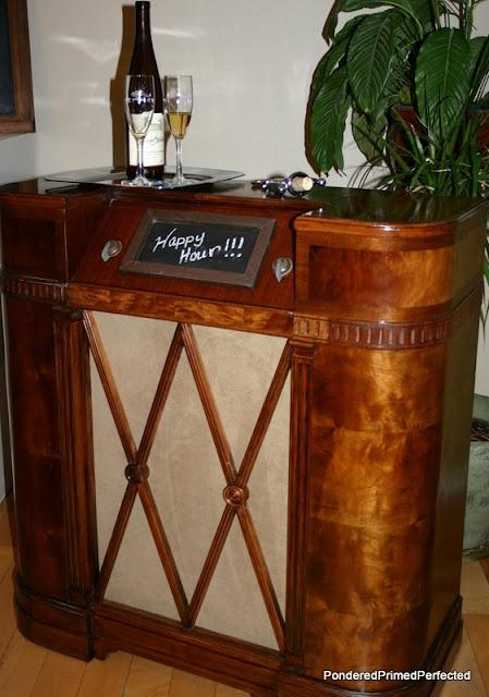 Repurposed Radio Cabinet