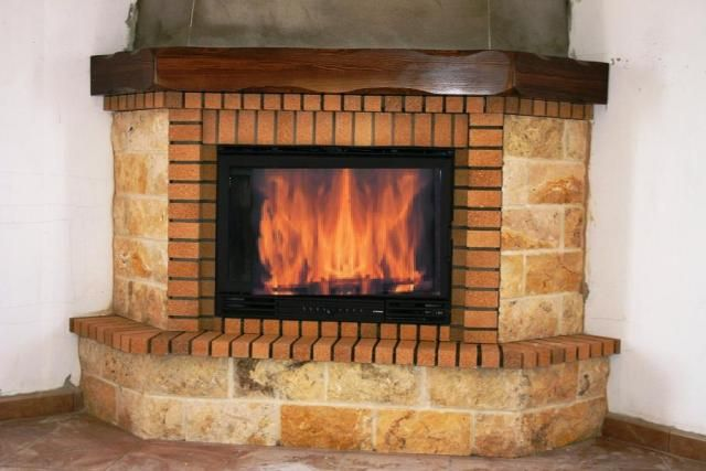 Chimeneas fireplace pinterest - Chimeneas rusticas ladrillo ...