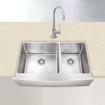 Kitchen Sink Costco : Costco: Hahn? Farmhouse Stainless Steel 60/40 Double Bowl Sink