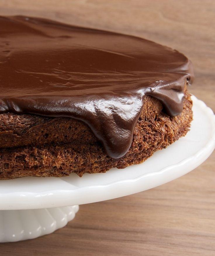 "Flourless Chocolate Cake with Chocolate Ganache (Bake or Break). ""Rich ..."
