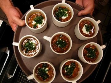 Lentil soup topped with crispy kale   Foods I Love   Pinterest