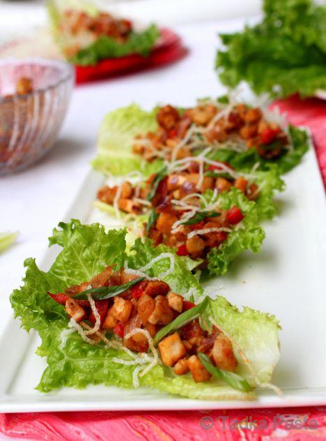Vegetarian Lettuce Wraps | Delicioso! | Pinterest