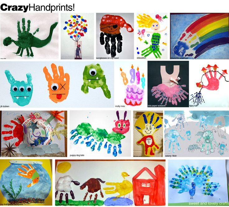 hand print crafts - easy and glorious.
