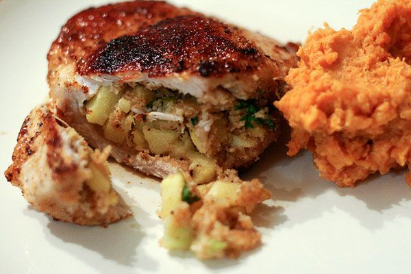 Pork Chops with Apple Stuffing | food | Pinterest