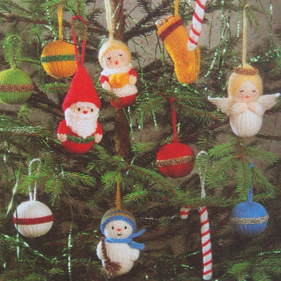 Knitting Pattern For Christmas Tree Angel : Pin by Helenedeer on vintage christmas Pinterest