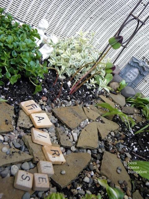 Backyard Scrabble Tiles : scrabble tiles