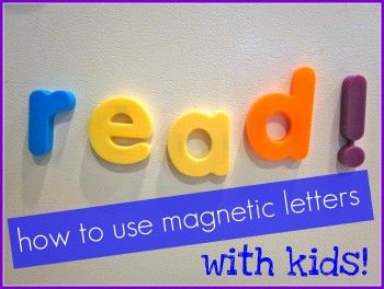how to use magnetic letters