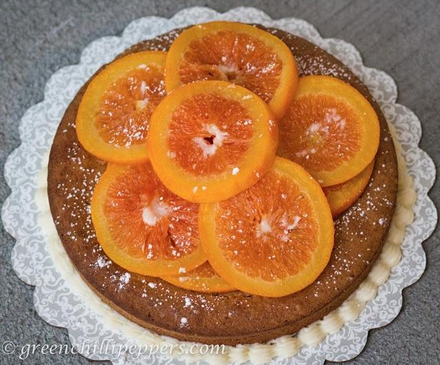 Orange-Walnut Cake Recipe — Dishmaps