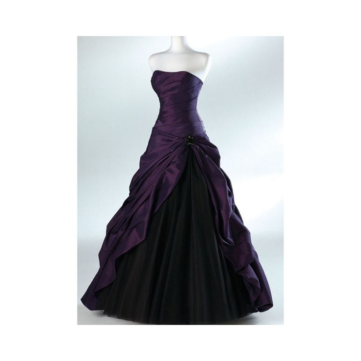 purple black wedding dress halloween theme wedding