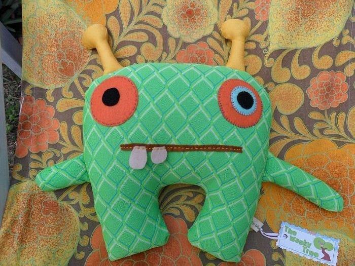 Fabric monster artsy inspiration pinterest for Baby monster fabric