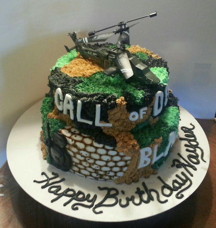 black ops birthday cake