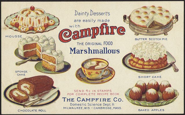 Dainty desserts are easily made with campfire marshmallows the