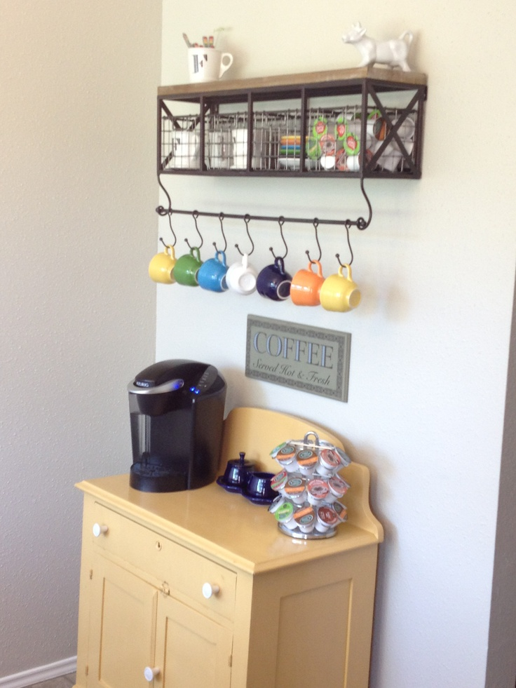 My Pinterest Inspired Coffee Bar My Home Pinterest