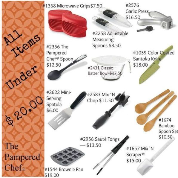 Under 20 Pampered Chef Products Pinterest