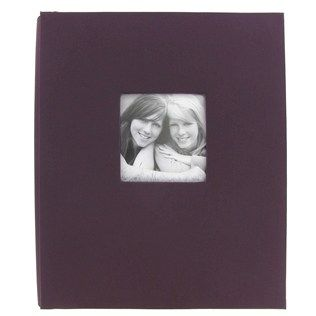 "11"" Plum Cloth Post Bound Scrapbook Album 