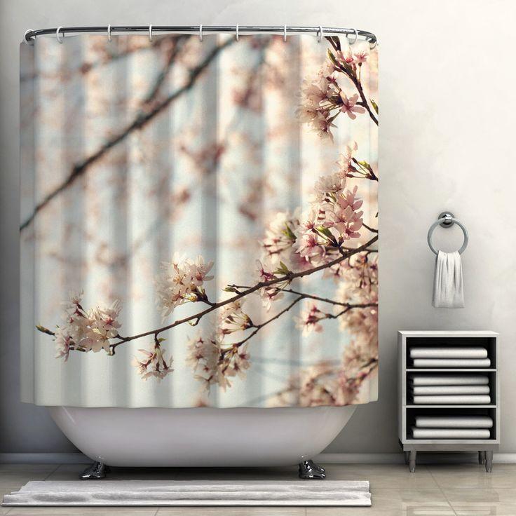 Japanese cherry blossom shower curtain my home pinterest